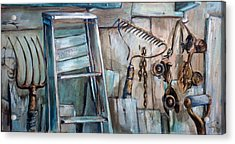 Rusty Tools Acrylic Print by Jean Groberg