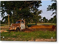 Rusty Truck And Tank Acrylic Print by Douglas Barnett