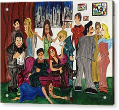 Acrylic Print featuring the painting Ruthys Party by Stuart B Yaeger