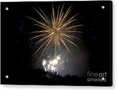 Acrylic Print featuring the photograph Rvr Fireworks 1 by Mark Dodd