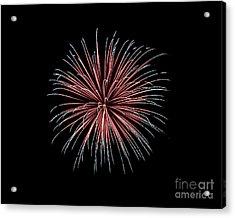 Acrylic Print featuring the photograph Rvr Fireworks 12 by Mark Dodd