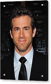 Ryan Reynolds At Arrivals For American Acrylic Print by Everett