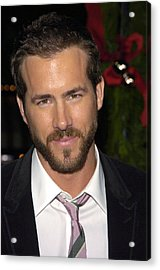 Ryan Reynolds At Arrivals For Just Acrylic Print by Everett