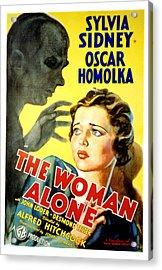 Sabotage, Aka The Woman Alone, Oscar Acrylic Print by Everett