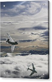 Sabre Dance In Mig Alley Acrylic Print