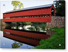 Acrylic Print featuring the photograph Sachs Covered Bridge by Dan Myers