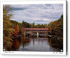 Acrylic Print featuring the photograph Saco River Autumn by Richard Bean