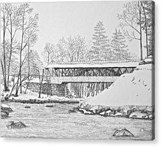Saco River Bridge Acrylic Print by Tim Murray