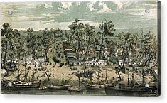 Sacramento City, California In 1849 Acrylic Print