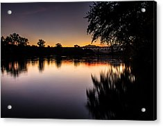 Acrylic Print featuring the photograph Sacramento River Sunset by Randy Wood