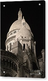 Sacre Coeur By Night V Acrylic Print by Fabrizio Ruggeri