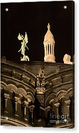 Sacre Coeur By Night Vi Acrylic Print by Fabrizio Ruggeri