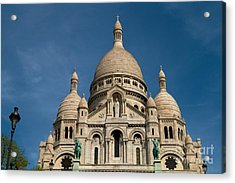 Sacre Coeur Cathedral Acrylic Print by Kim Wilson