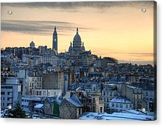Sacre Coeur, Paris Acrylic Print by Richard Fairless