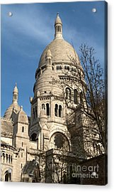 Acrylic Print featuring the photograph Sacre Coeur Tower by Kim Wilson