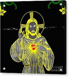 Sacred Heart Acrylic Print by Al Bourassa