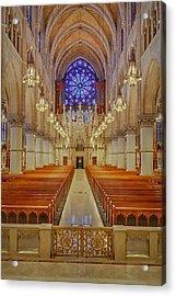 Sacred Heart Cathedral Basilica Acrylic Print by Susan Candelario