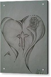 Sacred Heart Acrylic Print by Jason Rodriguez