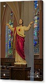 Sacred Heart Of Jesus Acrylic Print by Susan Candelario