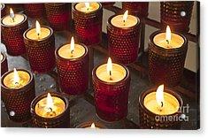 Sacrificial Candles Acrylic Print by Heiko Koehrer-Wagner