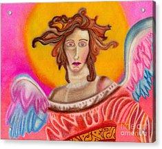 Sad Angel Acrylic Print by Christine Perry