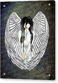 Sad Angel Acrylic Print