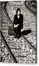 Sad Clown Acrylic Print by Joana Kruse