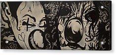 Sad Clowns Acrylic Print by Travis Burns