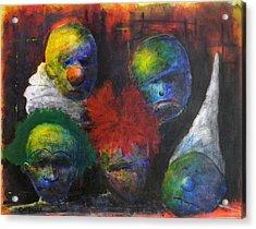 Saddened Harlequins Acrylic Print