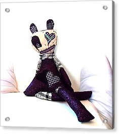 Sadie Soc Hop Zombie Acrylic Print by Oddball Art Co by Lizzy Love