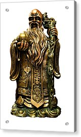Safe Travels Buddha Acrylic Print by Fabrizio Troiani