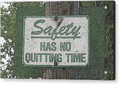 Safety Limitation Acrylic Print