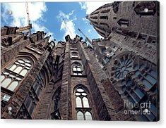 Sagrada Familia In Barcelona Acrylic Print by Design Remix