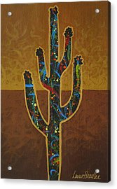 Acrylic Print featuring the painting Saguaro Gold by Lance Headlee