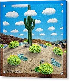 Saguaro Acrylic Print by Snake Jagger