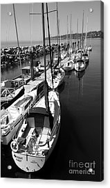 Sail Away Acrylic Print by Malu Couttolenc
