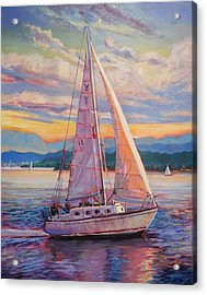 Sail Away Acrylic Print by Margaret  Plumb