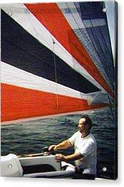 Sail Away Acrylic Print by Walt Jackson