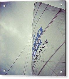 #sail #boat #puertorico #sky #water Acrylic Print