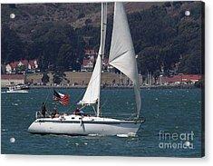 Sail Boats On The San Francisco Bay - 7d18326 Acrylic Print by Wingsdomain Art and Photography