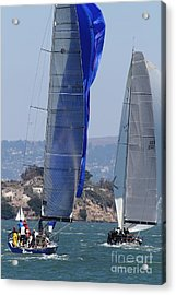 Sail Boats On The San Francisco Bay - 7d18353 Acrylic Print