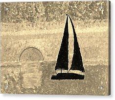 Sail In Sepia Sea Acrylic Print by Sonali Gangane