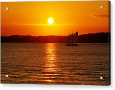 Sail Off Into The Sunset Acrylic Print by Andrew Pacheco