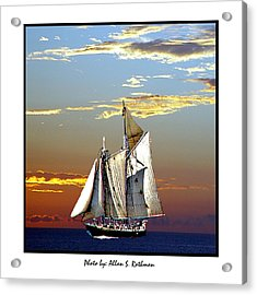 Sailbat At Dusk Acrylic Print