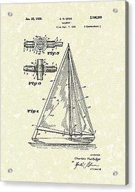 Sailboat 1938 Patent Art Acrylic Print