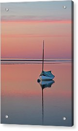 Sailboat And Buoy At Sunset Acrylic Print
