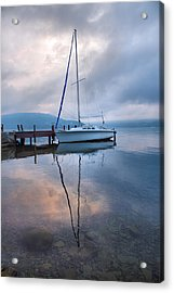Sailboat And Lake I Acrylic Print by Steven Ainsworth