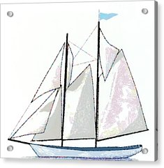 Sailboat  Acrylic Print by Anne Kitzman