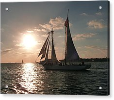 Acrylic Print featuring the photograph Sailboat At Key West by Jo Sheehan