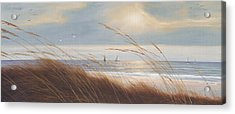 Sailboat Breezeway Panoramic  Acrylic Print by Diane Romanello